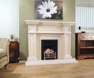 The Azores Limestone Fireplace is an impressive period styled fireplace, which will give grandeur to any room that it graces. A striking design with fine detailing that is sure to impress.